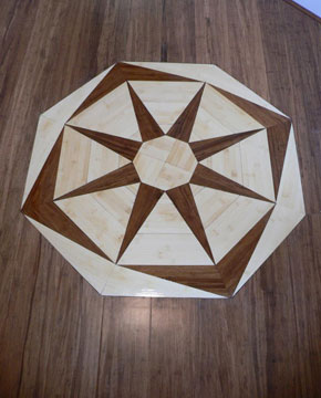 Bamboo flooring by D.I.Y. Parquetry and Cork