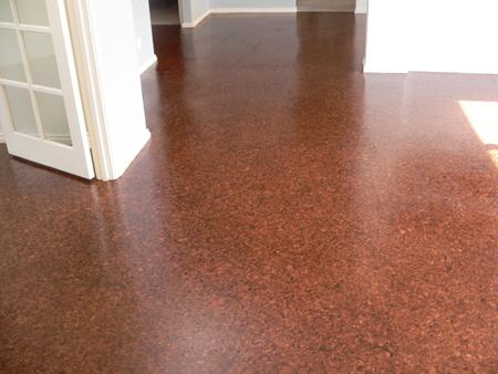 Gorgeous cork floor by DIY