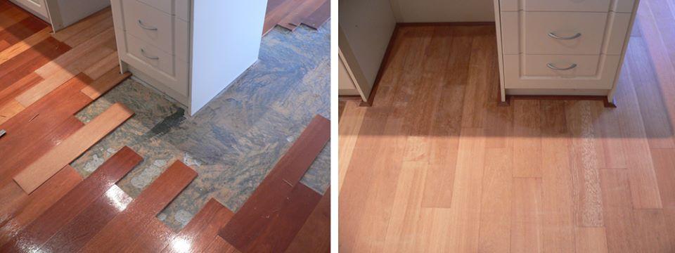 Solid Wood Flooring Repair by DIY Parquetry & Cork