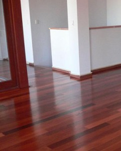 Jarrah solid wood flooring from D.I.Y Parquetry and Cork