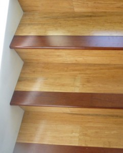bamboo stairs with jarrah capping