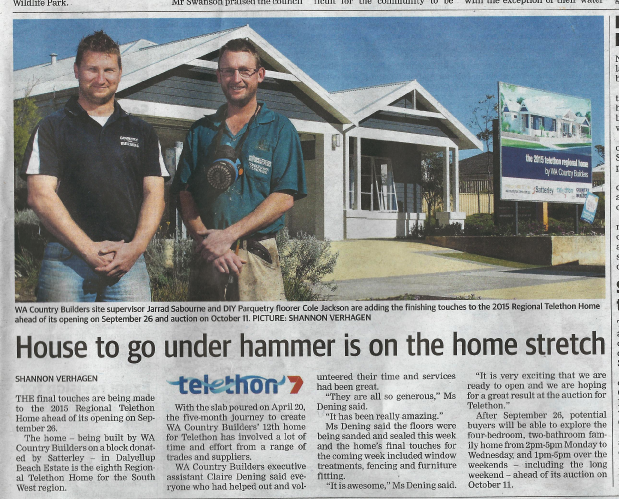 2015 Telethon Home Bunbury
