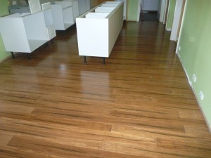 bamboo floors by DIY
